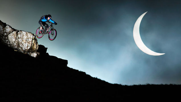 Stunt Biker Shoots For The Moon During Recent Solar Eclipse
