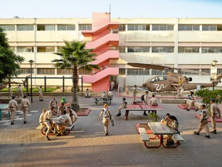 Holtz High School, Tel Aviv, Israel. This high school is also a technical college and is affiliated with the Israeli air force. Nearly all of the pupils will be drafted into the air force as computer engineers, electronics specialists, and mechanics.