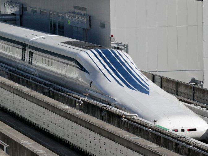 Levitating Train Breaks Speed Record in Japan