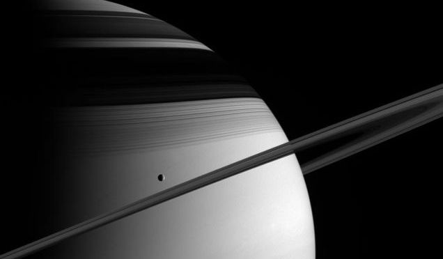 A Moon Of Saturn Has Its Moment In The Sun In This Stunning Ringscape