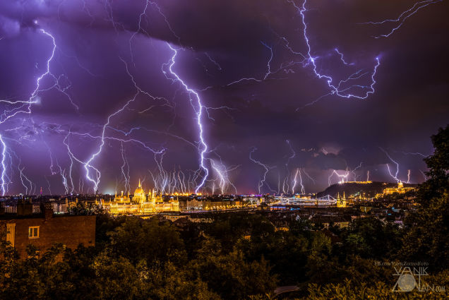 Two Hours of Thunderstorm Siege Made Budapest an Electrifying City