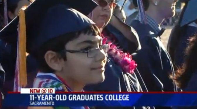 11-Year-Old Kid Genius Graduates From College With Three Degrees