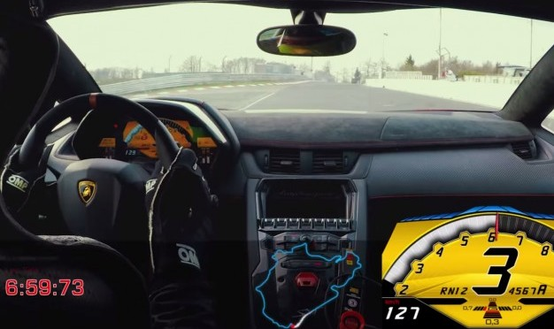 Watch the Lamborghini Aventador SV Break 7 Minutes at the 'Ring
