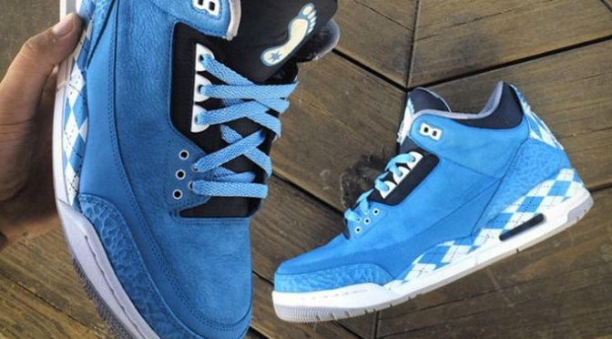 Mache Just Tar Heel'd Out a Pair of Air Jordan IIIs