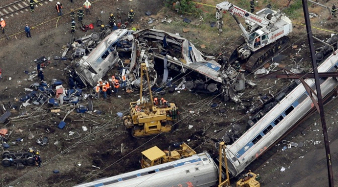 TRAIN 'WAS GOING TWICE SPEED LIMIT'