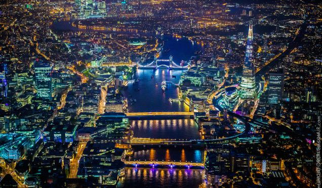 These ridiculously detailed aerial photos of London are stunning