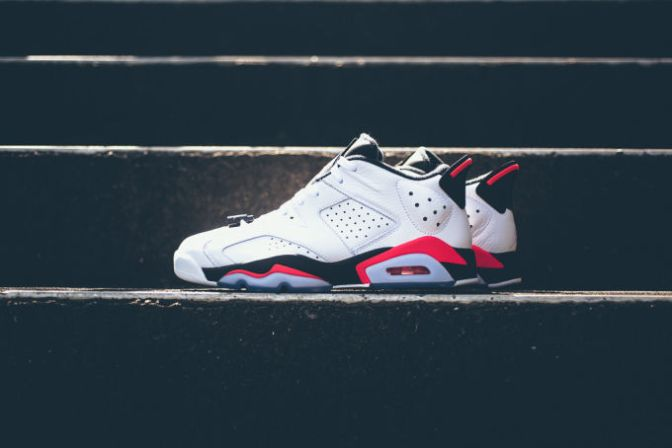 "Air Jordan VI Low Retro ""White/Infrared 23"""