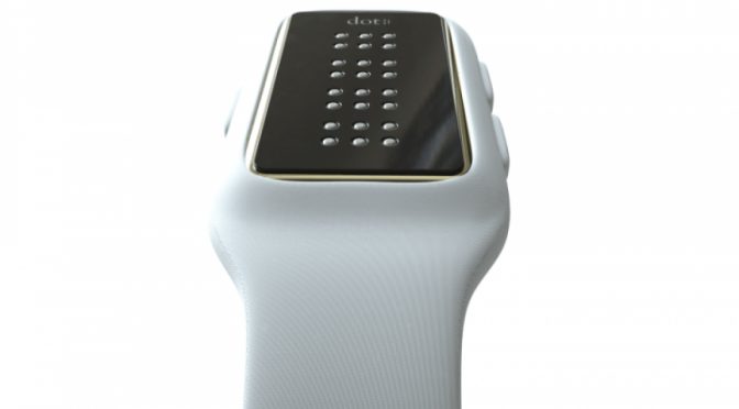 NOW THE BLIND CAN READ TEXTS ON THIS NEW BRAILLE SMARTWATCH