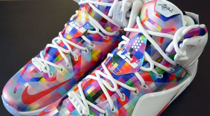 "Nike Pays Homage to Cereal and Streetball With the Colorful LeBron 12 ""Prism"""