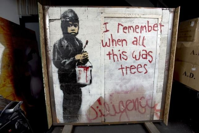 Two Iconic Banksy Murals Expected to Fetch Over $1 Million at Auction