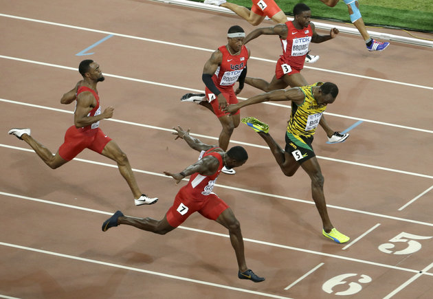Usain Bolt Wins 100 Meters At World Championships