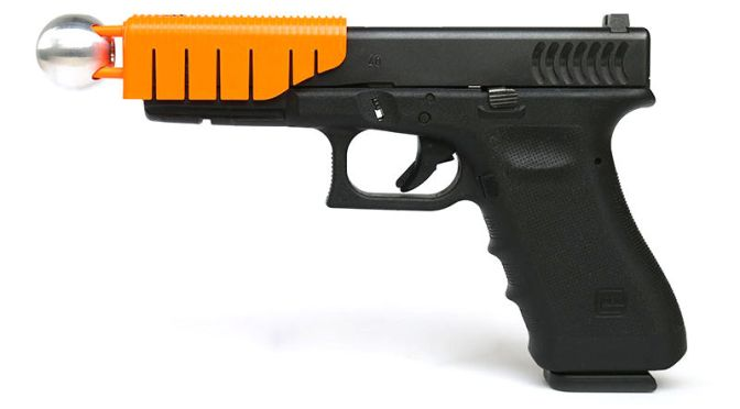 This Clip-on Handgun Attachment Makes Bullets Non-Lethal
