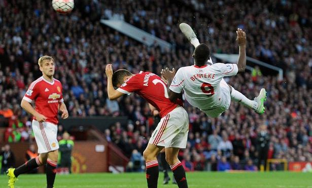 Christian Benteke of Liverpool Kicked in One of the Illest Goals Ever Versus Manchester United