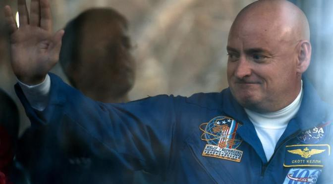 Scott Kelly Breaks U.S. Record for Most Time Spent in Space