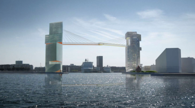 Behold the Dizzying Pedestrian Bridge Copenhagen Is Building Above Its Harbor