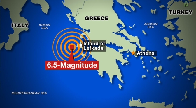 Strong Quake Hits Greek Island Of Lefkada