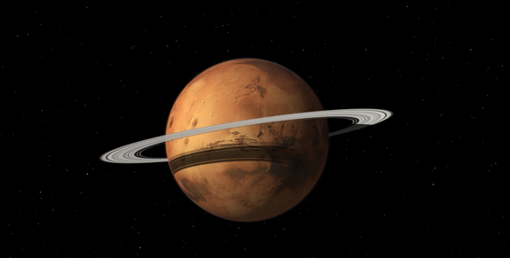 Mars May Become a Ringed Planet Someday
