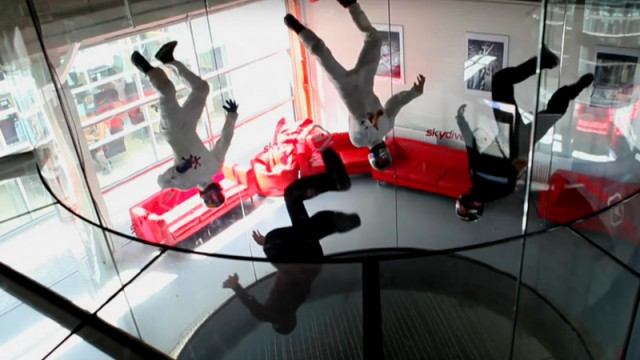 The Cool Physics Behind These Wind Tunnel Skydiving Acrobatics