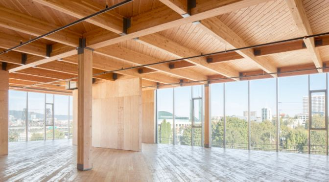 these gorgeous buildings showcase the surprisingly innovative future of wood the fat cat collective - Innovative Wood Beam Ceiling