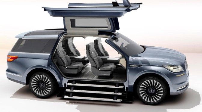 Lincoln's Yacht-Sized Concept SUV Has a Closet and Staircase