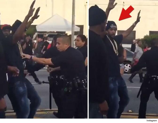 Cops Shut Down YG & Nipsey Hussle's 'F*ck Donald Trump' Music Video Shoot In L.A.