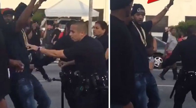 Cops Shut Down YG & Nipsey Hussle's 'F*ck Donald Trump' Music Video Shoot In L.A.