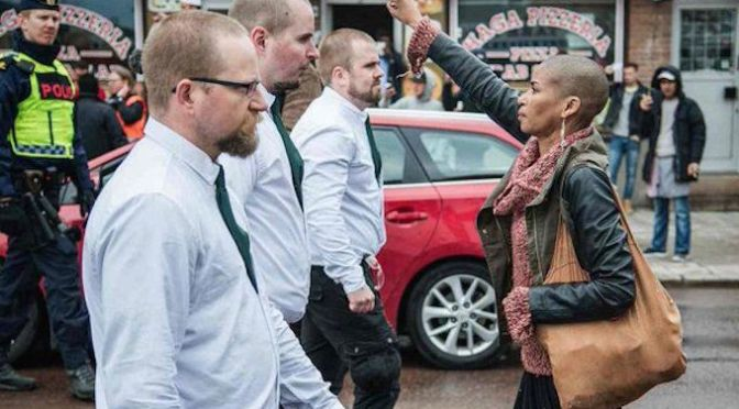 Fearless Black Woman Protested a Neo-Nazi March Completely by Herself