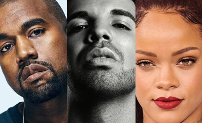 Drake, Rihanna & Kanye West Among Most Streamed Artists Of 2016