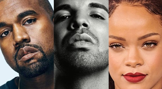 Drake, Rihanna & Kanye West Among Most Streamed Artists Of 2016