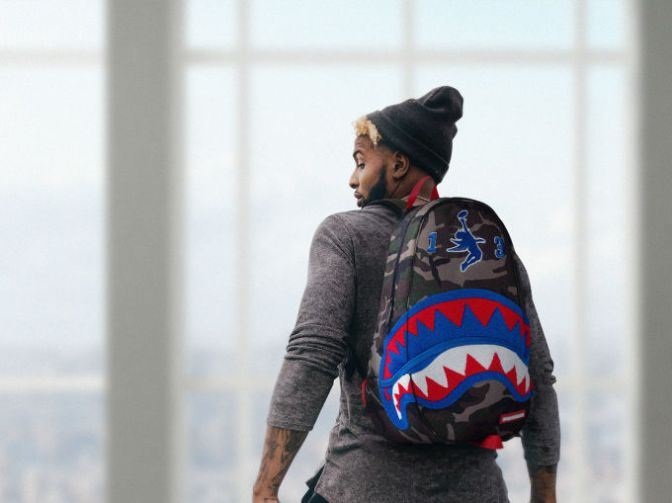 Odell Beckham Jr. Collaborates With Sprayground to Bring His Iconic Catch to This Backpack