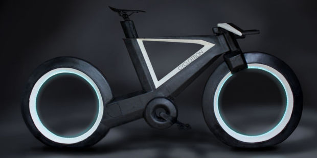 THIS 'TRON'-STYLE HUBLESS SMART BIKE IS THE FUTURE OF TWO-WHEELING