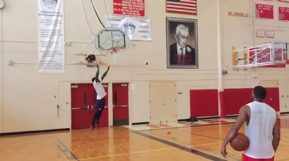 Watch 5-Foot-9 Nate Robinson Show Off His Insane Skills by Dunking On a 12-Foot Hoop