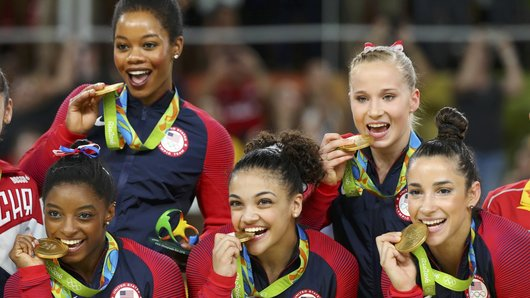 U.S. Women's Gymnastics Team Takes Gold In Rio