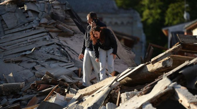 Huge Earthquake Strikes Central Italy