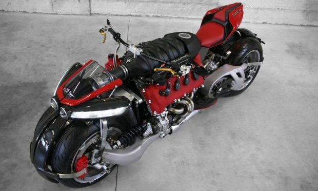 PROOF THE INSANE MASERATI V8-POWERED LAZARETH MOTORCYCLE IS ACTUALLY RIDEABLE