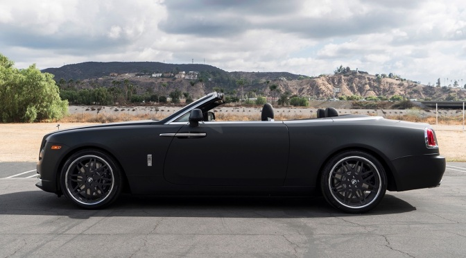 EXOTIC EURO CARS' MATTE BLACK ROLLS ROYCE DAWN