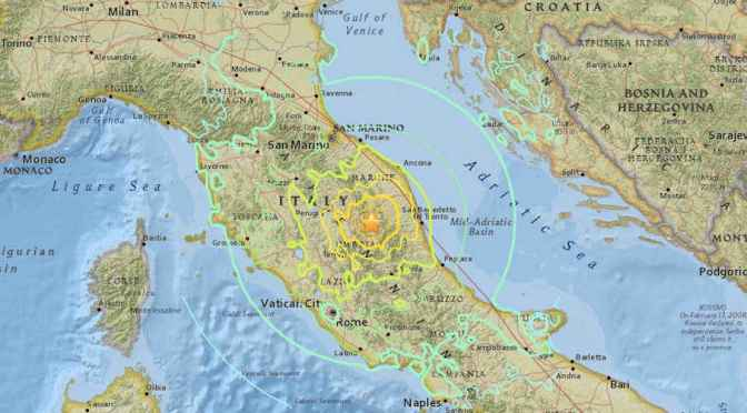 Two Strong Earthquakes Rattle Central Italy
