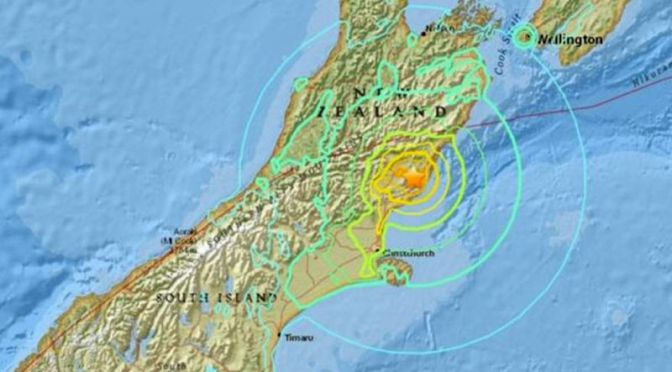 Extremely Powerful Earthquake Rocks New Zealand