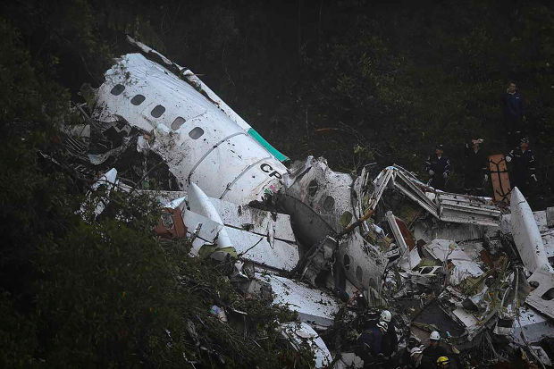 PLANE CARRYING BRAZILIAN SOCCER TEAM CRASHES IN ONE OF THE WORST SPORTS TRAGEDIES OF ALL TIME