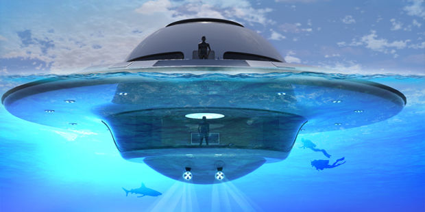 YOU'LL SOON BE ABLE TO MOVE INTO THIS FREAKY, UFO-INSPIRED FLOATING HOUSEBOAT