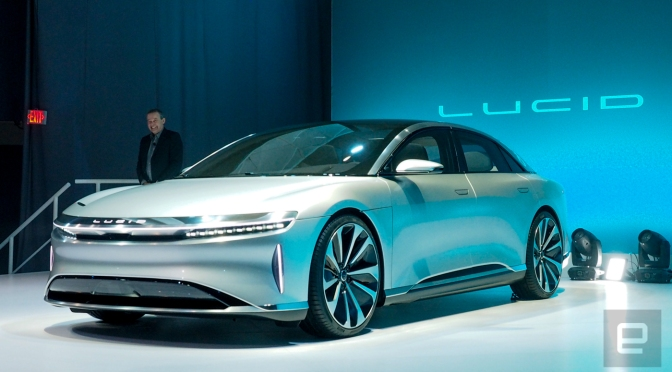 Lucid Motors unveils its 400-mile range luxury EV