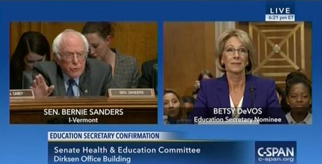 Trump's Pick for Education Secretary , Betsy DeVos Gets Grilled Over Views on Allowing Guns in Class, Defunding Public Schools + More