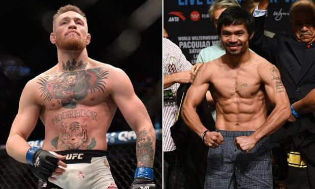 MANNY PACQUIAO SAYS HE'LL FIGHT CONOR MCGREGOR IF FLOYD MAYWEATHER BACKS OUT