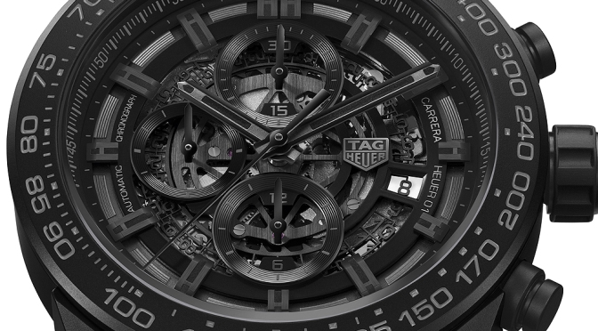 TAG Heuer Introduces New Heuer-01 Chronograph with Matte Black Ceramic Case