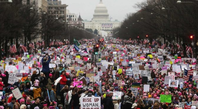 Hundreds of Thousands of Protesters Take the Streets for the Women's March on Washington