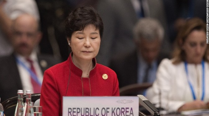SOUTH KOREA REMOVES PRESIDENT