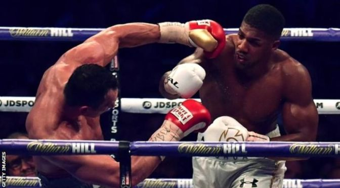 ANTHONY JOSHUA STOPS WLADIMIR KLITSCHKO TO BECOME HEAVYWEIGHT BOXING'S NEW KING