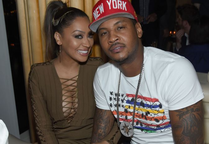 CARMELO ANTHONY'S MARRIAGE TO LA LA APPEARS TO BE OVER AFTER HE ALLEGEDLY GOT A STRIPPER PREGNANT