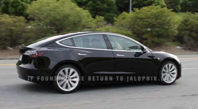 This Is The Tesla Model 3 Way Before You're Supposed To See It