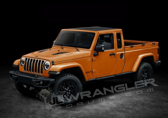 HERE'S A FIRST LOOK AT WHAT THE NEW JEEP WRANGLER PICKUP MIGHT LOOK LIKE
